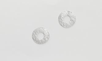 HAMMERED LOBO EARRING (SMALL)