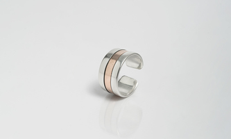 Ring with copper band