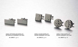Rectangular, square and round hammered cuff-links